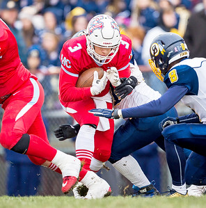 Marian Central Catholic senior Pasquale Ricciardi drives through the middle during the Class 5A state quarterfinal game against Sterling Saturday, November 11, 2017 in Woodstock. The Hurricanes come up short falling to Sterling 22-10. KKoontz- For Shaw Media