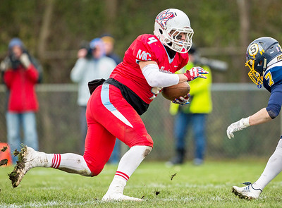 Marian Central Catholic senior Sam Limbaugh turns up-field during the Class 5A state quarterfinal game against Sterling Saturday, November 11, 2017 in Woodstock. The Hurricanes come up short falling to Sterling 22-10. KKoontz- For Shaw Media