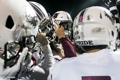Sarah Nader - snader@shawmedia.com The Prairie Ridge football team celebrates after winning Saturday's Class 6A state semifinal game against Hoffman Estates Nov. 18, 2017. Prairie Ridge won, 42-21.