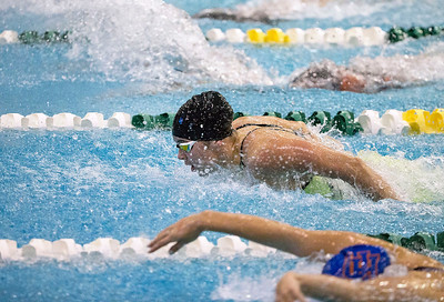 Valerie Tarazi with Crystal Lake Coop, swims in the 200-Yard Individual Medley finals during the IHSA Swimming and Diving Championships at New Trier High School on Saturday, November 18, 2017 in Winnetka, Illinois. Tarazi finished in third place in the race with a time of 2:01.52. John Konstantaras photo for Shaw Media