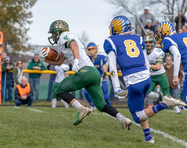 Coal City's Daniel Jezik breaks away and heads in for the touchdown against Johnsburg Saturday, November 3, 2018 in Johnsburg. Coal City wins the Class 4A second-round playoff game 33-14 and will face Richmond-Burton next week. KKoontz – For Shaw Media
