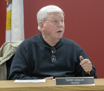 Lake in the Hills Sanitary District Trustee Terry Easler talks about consolidation Thursday, November 8, 2018 at the Lake in the Hills Sanitary District board meeting in Lake in the Hills. KKoontz – For Shaw Media