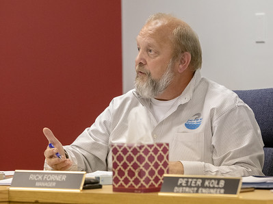 Lake in the Hills Sanitary District Manager Rick Forner talks about consolidation Thursday, November 8, 2018 at the Lake in the Hills Sanitary District board meeting in Lake in the Hills. KKoontz – For Shaw Media