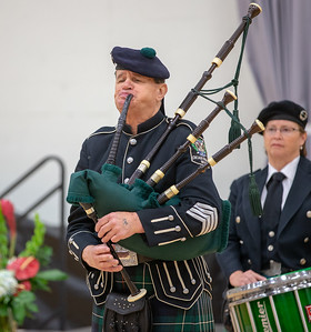 "David Cormalleth plays """"Amazing Grace"" on the bagpipes during the Veterans Memorial Ceremony Friday, November 9, 2018 held at McHenry County College in Crystal Lake. KKoontz- For Shaw Media"