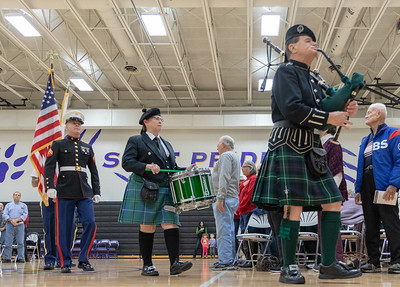 The Colors are presented Friday, November 9, 2018 at the Veterans Memorial Ceremony held at McHenry County College in Crystal Lake. KKoontz- For Shaw Media