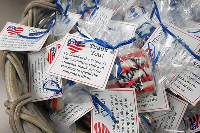 Candace H. Johnson-For Shaw Media Cookies were given out to sixty veterans and active duty military who participated in the Veterans Day Celebration at the William L. Thompson Elementary School in Lake Villa. (11/12/18)