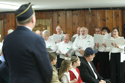 "Candace H. Johnson-For Shaw Media An Army veteran stands up as the Viking Park Singers sing a, ""Salute to the Armed Services Medley"", during the Annual Veterans Day Ceremony at the American Legion Post 771 in Gurnee. (11/11/18)"