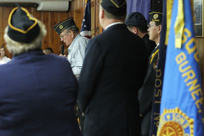 Candace H. Johnson-For Shaw Media Bill Schultz, of Wadsworth, a Korean War Air Force veteran, gives a speech during the Commemoration of Veterans at the Annual Veterans Day Ceremony at the American Legion Post 771 in Gurnee. (11/11/18)
