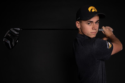 Jacobs senior Garrett Tighe is the Northwest Herald Boys Golfer of the Year. Tighe, who will golf next year at Iowa, tied for fifth place at the Class 3A state boy's golf tournament, shooting an even-par 72 on Oct. 13, 2018 at The Den at Fox Creek Golf Course in Bloomington. Tighe poses in studio for newspaper article Friday, November 16, 2018 in Volo. KKoontz – For Shaw Media