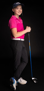 Crystal Lake Central co-op's Molly Lyne is the Northwest Herald Girls Golfer of the Year. Lyne, a junior at Cary-Grove High School, also won the honor last season as a sophomore. Lyne tied for 15th place, recording a 9-over-par 153 at the Class 2A state girl's golf tournament at Hickory Point Golf Club in Forsythe. Lyne poses in studio for newspaper article Friday, November 16, 2018 in Volo. KKoontz – For Shaw Media