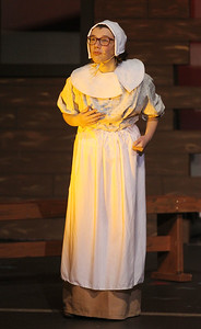 Candace H. Johnson-For Shaw Media Mary Warren (Erin Schimenti) performs a scene during the fall play called, The Crucible, by Arthur Miller (which is based on the Salem witch trials) at Grant Community High School in Fox Lake. (11/18/18)