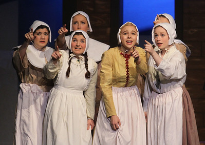 Candace H. Johnson-For Shaw Media The Puritan girls perform a scene during the fall play called, The Crucible, by Arthur Miller (which is based on the Salem witch trials) at Grant Community High School in Fox Lake. (11/18/18)
