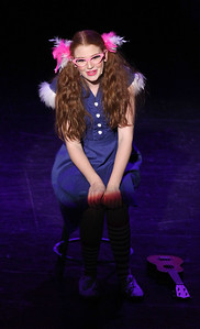 "Candace H. Johnson-For Shaw Media Gertrude McFuzz (Shannon McNutt) sings, ""The One Feather Tail of Miss Gertrude McFuzz,"" during Seussical The Musical at Wauconda High School. (11/17/18)"