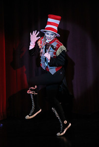 Candace H. Johnson-For Shaw Media The Cat in the Hat (Carlye Pichman) dances to Circus McGurkus in Act II during Seussical The Musical at Wauconda High School. (11/17/18)
