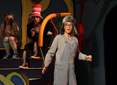"Candace H. Johnson-For Shaw Media Horton the Elephant (Luke Johnson) sings, ""Horton Hears a Who,"" during Seussical The Musical at Wauconda High School. (11/17/18)"