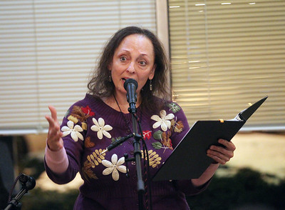 "Candace H. Johnson-For Shaw Media Tamara Kist, of Palatine, storyteller and poet, tells a story titled, ""Persephone,"" during Open Mic Nights at Taste of Paris in Mundelein. The event was presented by the Mundelein Arts Commission. The next Open Mic Night at Taste of Paris will be on November 15th from 6-8:30 pm.  (11/2/19)"