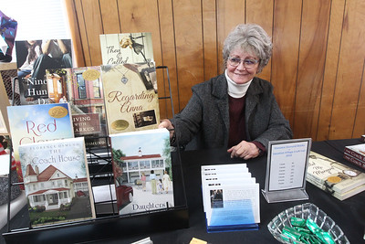 Candace H. Johnson-For Shaw Media Florence Osmund, of Lake Villa, a literary fiction author, talks about the seven published books that she was selling during the Venetian Village Craft Show in Lake Villa. Osmund published her first book when she was 62-years-old. (11/16/19)