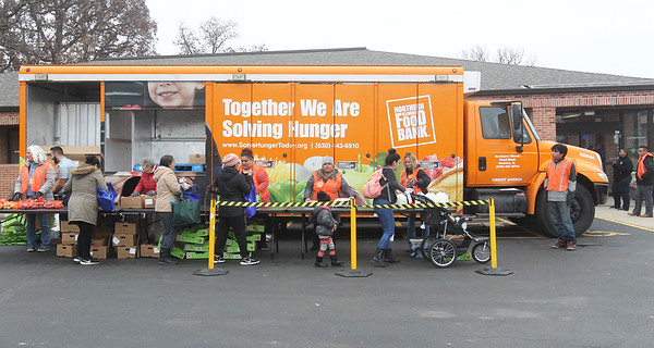 Candace H. Johnson-For Shaw Media The Rx Mobile Pantry outside of the Round Lake Library. The next pantry will arrive at the library on December 3rd from 12-2:00 pm. (11/19/19)