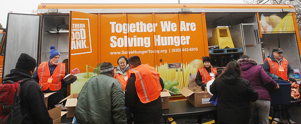 Candace H. Johnson-For Shaw Media The Rx Mobile Pantry at the Round Lake Library. The next pantry will arrive at the library on December 3rd from 12-2:00 pm. (11/19/19)