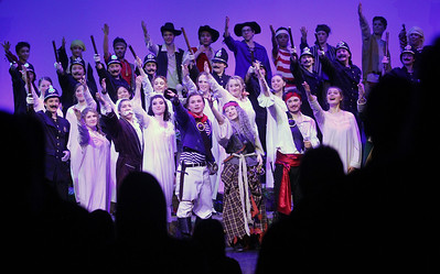 Candace H. Johnson-For Shaw Media The cast receives a standing ovation at the end of The Pirates of Penzance at Wauconda High School. (11/21/19)