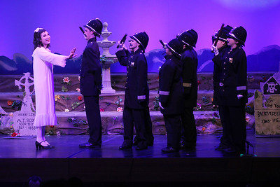 Candace H. Johnson-For Shaw Media Mabel, played by Erin Benson, performs with the Sergeant and Police in Act II during The Pirates of Penzance at Wauconda High School. (11/21/19)