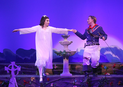 "Candace H. Johnson-For Shaw Media Mabel, played by Erin Benson, stands with Frederic, played by Alex Andersen, as she sings, ""Stay, Frederic, Stay,"" during The Pirates of Penzance at Wauconda High School. (11/21/19)"