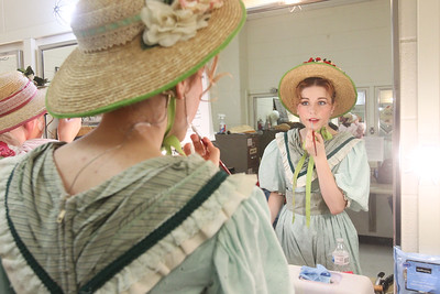 Candace H. Johnson-For Shaw Media Tegan Tallungan, 18, of Wauconda, puts on her makeup before the start of The Pirates of Penzance at Wauconda High School. (11/21/19)