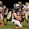 Kaneland's Kyle Pollastrini catches a pass during their home game against Morris Friday night.