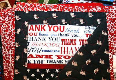 H. Rick Bamman - hbamman@shawmedia.com Quilts made by Gazebo Quilters of Huntley include personal messages for veterans.