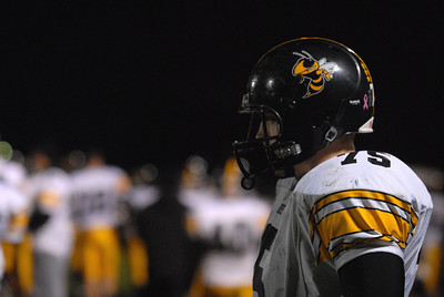 Hinsdale South senior offensive lineman Zachary Guritz (75) watches from the sideline during a playoff game at Oak Forest on Friday, Oct. 26, 2012. Staff photo by Matthew Piechalak  |  Buy this photo at snapshots.mysuburbanlife.com/1557279