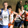 Jeff Krage – For the Kane County Chronicle<br /> St. Charles North's Spencer Gray, left, runs in Saturday's IHSA 3A cross-country sectional at Leroy Oakes Forest Preserve.<br /> St. Charles 10/27/12