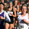 Jeff Krage – For the Kane County Chronicle<br /> Geneva's Brooke Nusser (#90) runs in Saturday's IHSA 3A cross-country sectional at Leroy Oakes Forest Preserve.<br /> St. Charles 10/27/12