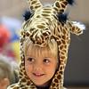 Jeff Krage – For the Kane County Chronicle<br /> Benjamin Murphy, 5, of Geneva dressed as a giraffe during Saturday's Halloween Hayday at Stephen Persinger Recreation Center.<br /> Geneva 10/27/12