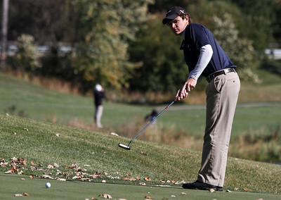 Mike Greene - mgreene@shawmedia.com Cary-Grove's Nick Mathers watches his putt on hole 2 during the Class 3A Barrington Sectional boys golf tournament Monday, October 8, 2012 at Makray Memorial Golf Course in Barrington.
