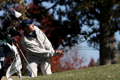Mike Greene - mgreene@shawmedia.com Cary-Grove's Jack Kriva watches his chip shot on hole 3 during the Class 3A Barrington Sectional boys golf tournament Monday, October 8, 2012 at Makray Memorial Golf Course in Barrington.