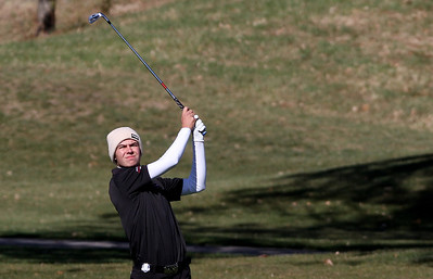 Mike Greene - mgreene@shawmedia.com Huntley's Ryan Craig hits an approach shot on hole 3 during the Class 3A Barrington Sectional boys golf tournament Monday, October 8, 2012 at Makray Memorial Golf Course in Barrington.
