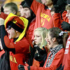 Batavia fans cheer before the school's first-round playoff game against Downers Grove North Friday night in Batavia. (Sandy Bressner photo)