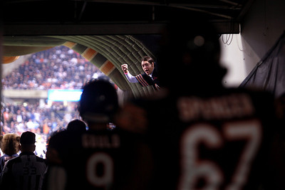 Sarah Nader - snader@shawmedia.com The Chicago Bears take the the field during Monday's game against the Detroit Lions in Chicago on October 22, 2012. Chicago won, 13-7.