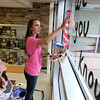 Cary Grove homecoming windows : Students participated in crafting window decorations for homecoming Wednesday, October 3, 2012 at Cary-Grove High School in Cary. Homecoming festivities will culminate in parades Saturday morning before a varsity home football game against Huntley at 1PM.