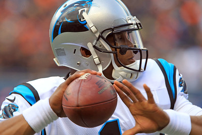 H. Rick Bamman - hbamman@shawmedia.com Carolina Panthers's Cam Newton against the Bears Sunday, October 28, 2012.