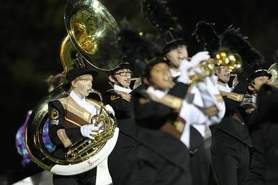 H. Rick Bamman - hbamman@shawmedia.com The Jacobs marching band performs at halftime.