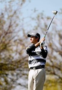 Sarah Nader - snader@shawmedia.com Jacobs' Chris Boyle watches his ball after teeing off on the 6th hole  during Tuesday's Crystal Lake South boys golf regional at Redtail Gold Club in Lakewood on October 2, 2012.