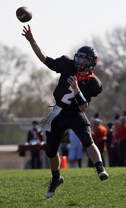 Brett Moist/ For the Northwest Herald Crystal Lake Central's Kyle Levand throws a pass during the second quarter against Hyde Park.
