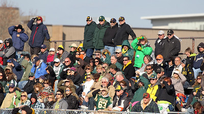 H. Rick Bamman - hbamman@shawmedia.com  Crystal Lake fans watch the Gators battle the Lake Zurich Bears.