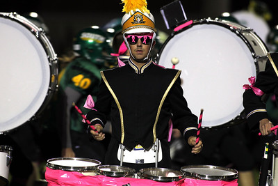 H. Rick Bamman - hbamman@shawmedia.com Crystal Lake South's drummer Chris Juliano performs during the pre-game show.