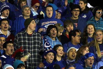 H. Rick Bamman - hbamman@shawmedia.com Dundee-Crown fans cheer for the Chargers.