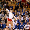 Batavia's Heather Meyer spikes the ball during Geneva's 25-22, 21-25, 25-19 Batavia Regional final win Thursday night.