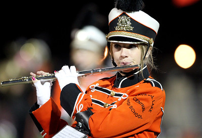 Mike Greene - mgreene@shawmedia.com A member of the Crystal Lake Central marching band performs during halftime of a game against Grayslake North Friday, October 5, 2012 at Crystal Lake Central. Grayslake North (6-1) defeated Crystal Lake Central (5-2) 32-20 to clinch a playoff spot.