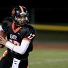 St. Charles East quarterback Jimmy Mitchell looks to make a pass during their home game against Batavia Friday night. (Sandy Bressner photo)