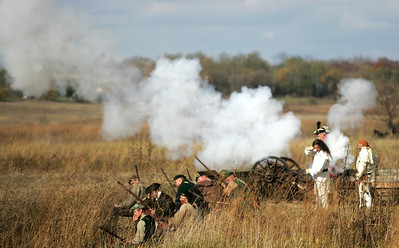 Monica Maschak - mmaschak@shawmedia.com Cannon and gunfire sounded during a military re-enactment at the Trail of History Saturday.
